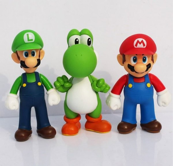 Kit Mario Luigi Yoshi Collection Super Size Promoção
