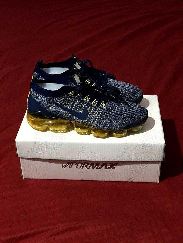 Ténis Nike Vapor Max Azul E Dourado Frete Grátis