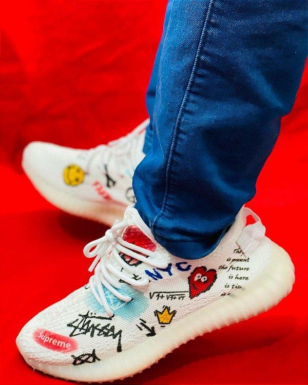 Tênis Adidas Yeezy Boost 350 v2 Branco