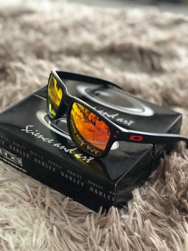 Óculos Oakley Holbrook Lente Vermelha Frete Grátis