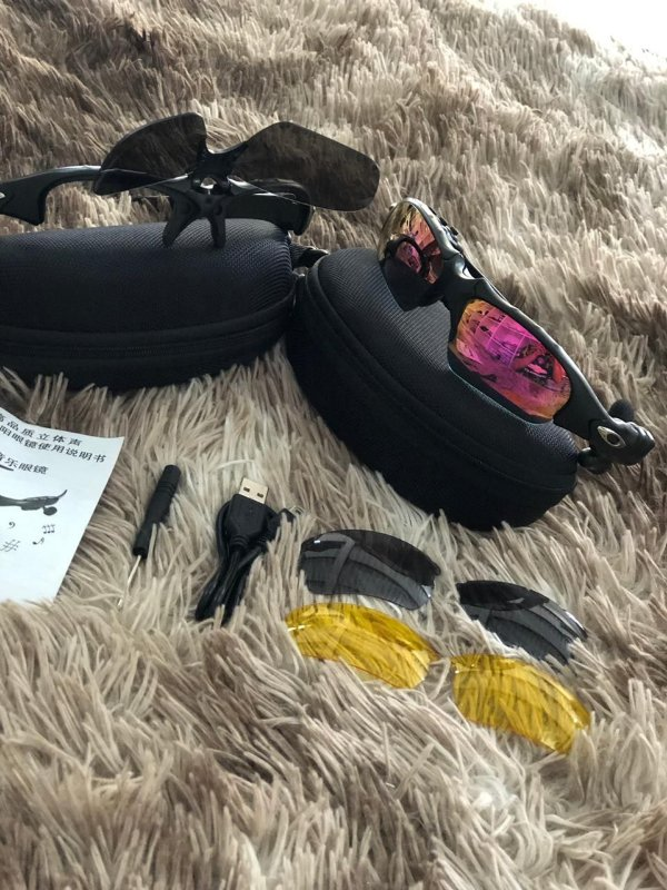 Óculos Oakley Trump Rosa Mp3 Bluetooth + 3 Lentes Frete Grátis