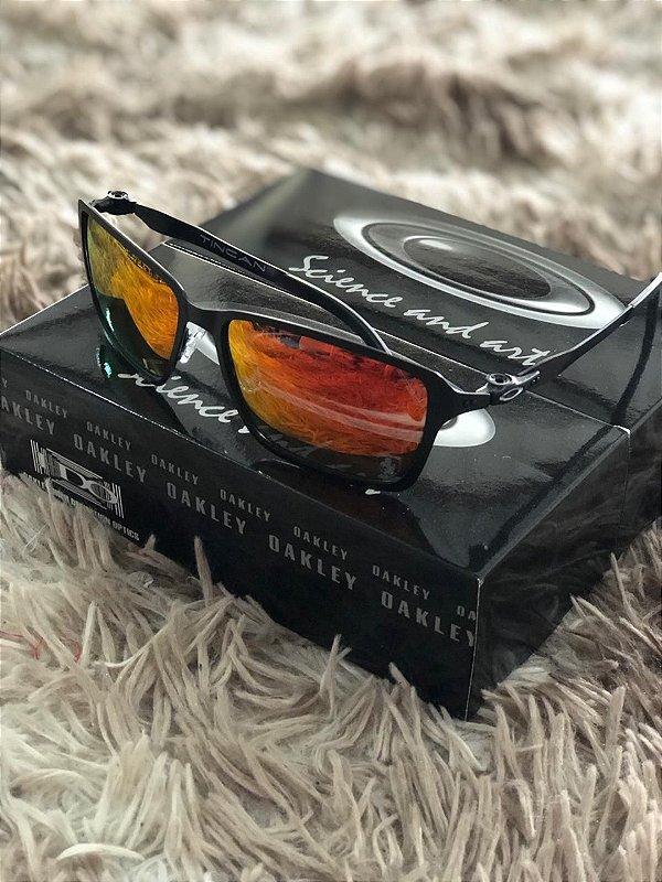 Óculos Oakley Tincan Lente Vermelha Frete Grátis