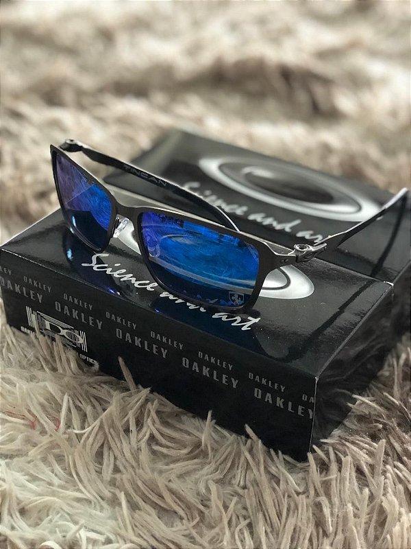Óculos Oakley Tincan Lente Azul Escura Frete Grátis