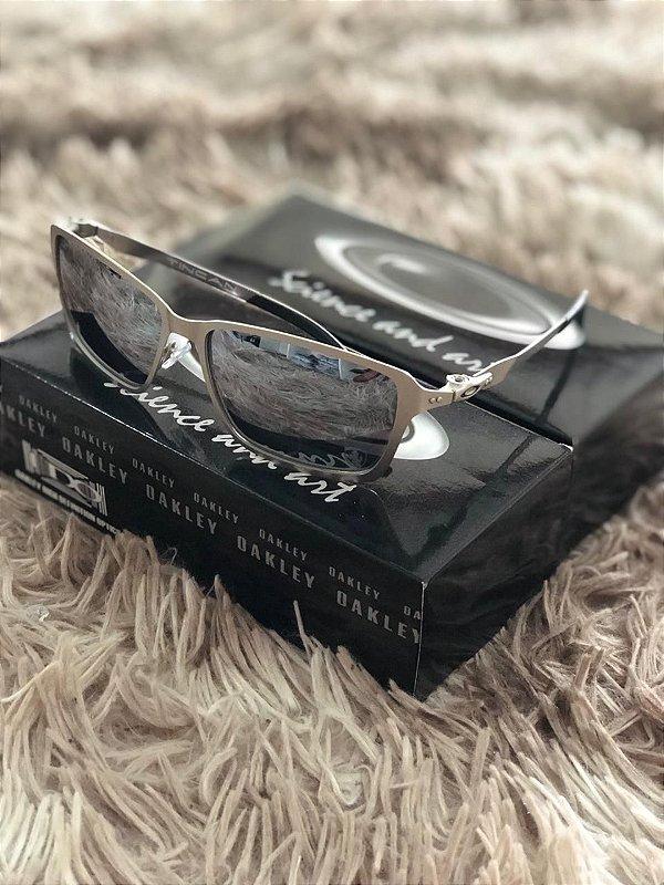 Óculos Oakley Tincan Lente Prata Armação Prata Frete Grátis