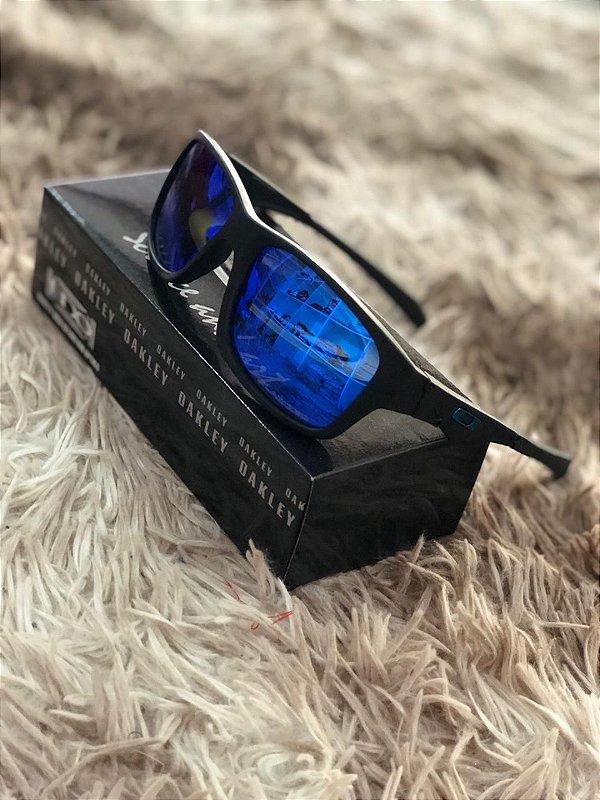 Óculos Oakley Jupiter Lente Azul Escura Frete Grátis