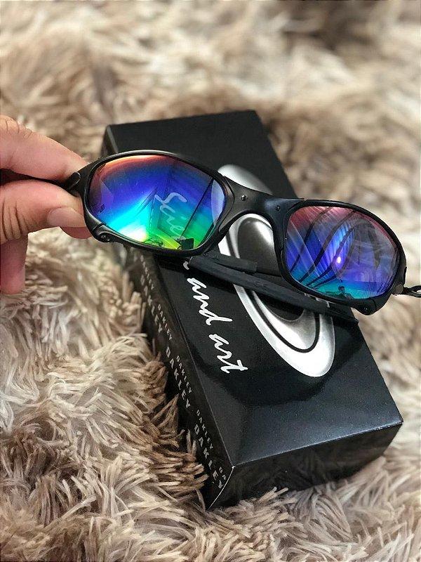 Óculos Oakley Juliet Lente Verde Armação Preta Frete Grátis
