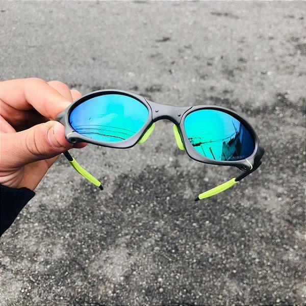 Óculos Oakley Penny Lente Verde Brilho Reto Frete Grátis
