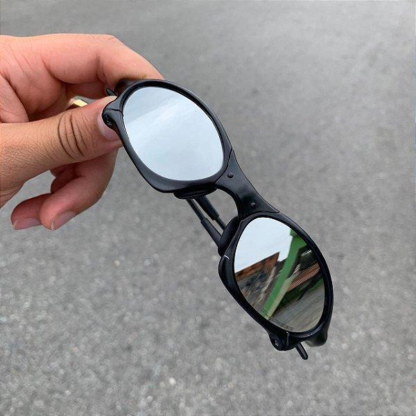 Óculos Oakley Penny Lente Prata Brilho Reto Armação Preta Frete Grátis