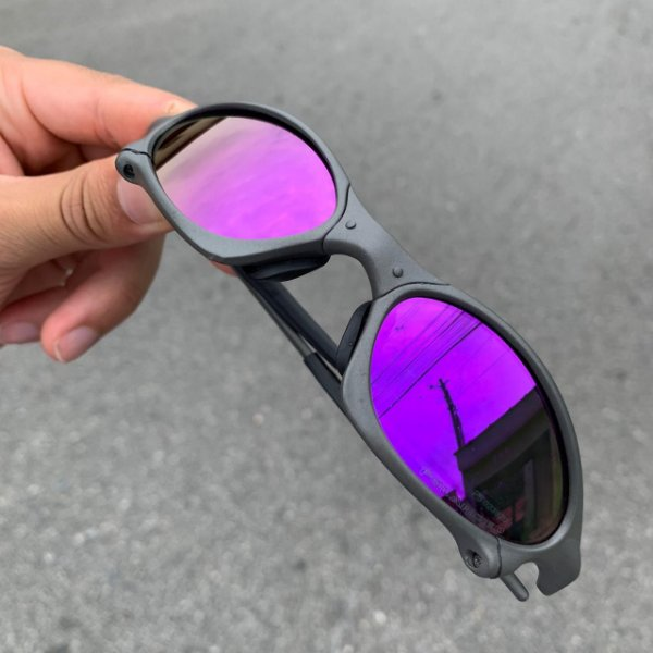 Óculos Oakley Penny Lente Rocha Brilho Reto Armação X-metal Frete Grátis