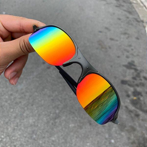 Óculos Oakley Romeo 2 Lente Arco-Iris Brilho Reto Armação X-metal Frete Grátis