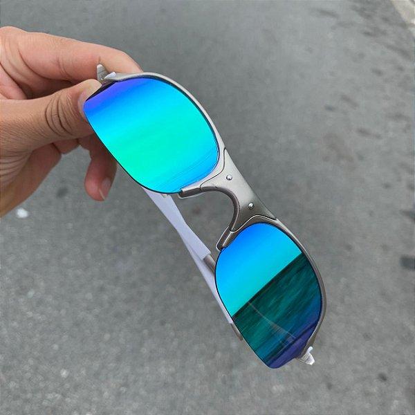 Óculos Oakley Romeo 2 Lente Azul Brilho Reto Armação Plasma Frete Grátis