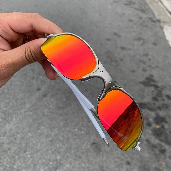 Óculos Oakley Romeo 2 Lente Vermelha Brilho Reto Armação Plasma Frete Grátis