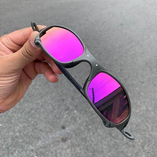 Oculos Oakley Juliet Lente Rocha Escuro Brilho Reto Armção X-Metal Frete Grátis