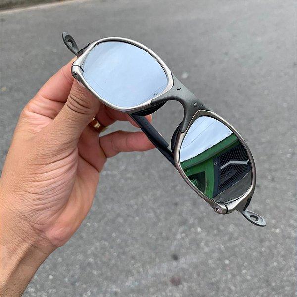 Óculos Oakley Double-X Tio 2 Lente Prata Brilho Reto Frete Grátis
