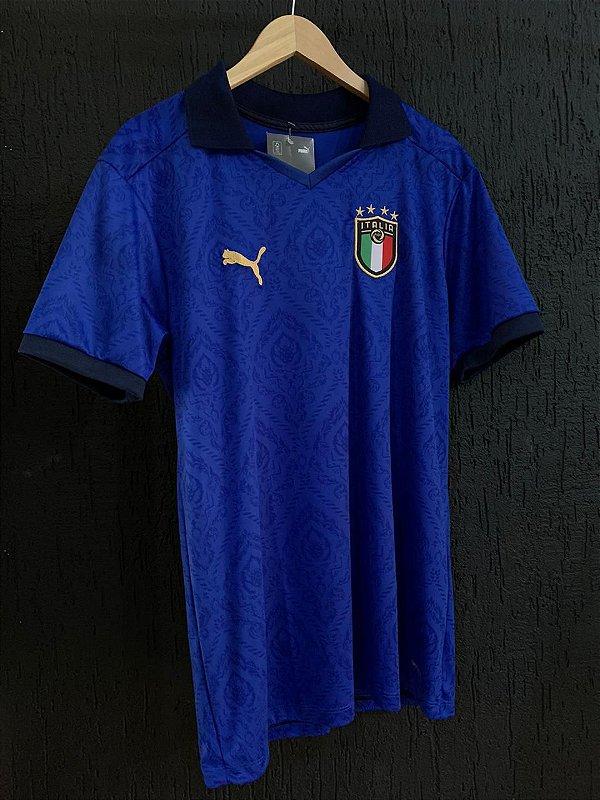 Camiseta Itália Azul 2021 Com Frete Grátis