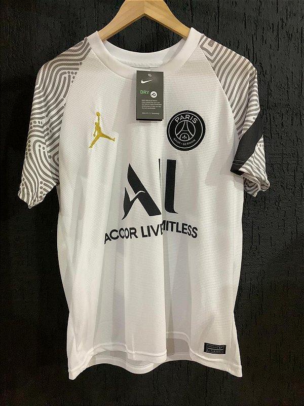 Camiseta Psg Branca 2021 Com Frete Grátis