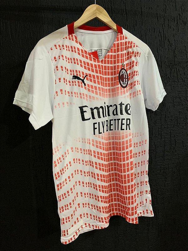 Camiseta Milan Branca 2021 Com Frete Grátis