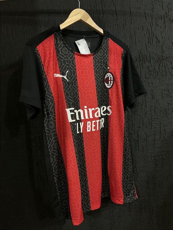 Camiseta Milan Listrada 2021 Com Frete Grátis