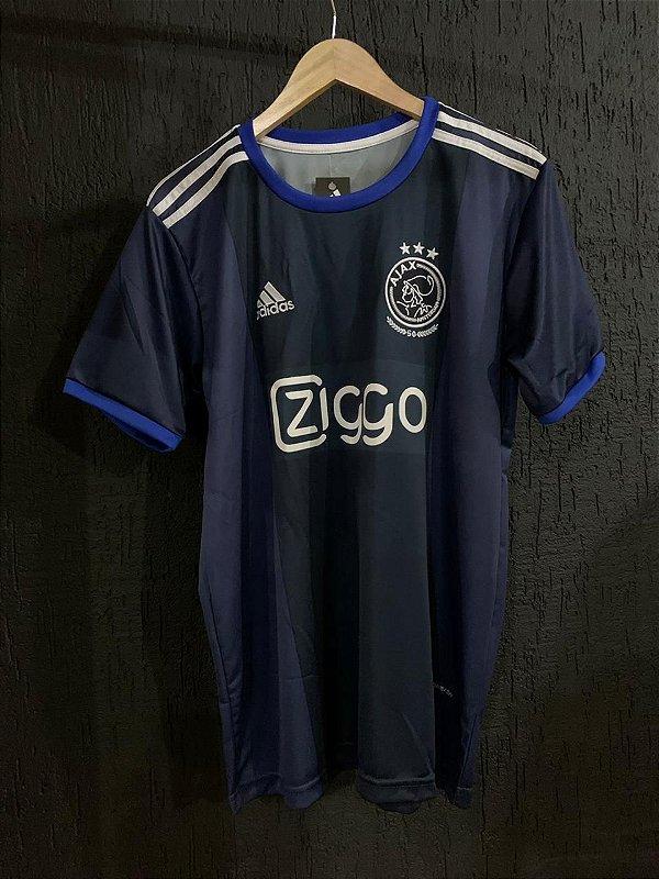 Camiseta Ajax Azul 2021 Com Frete Grátis