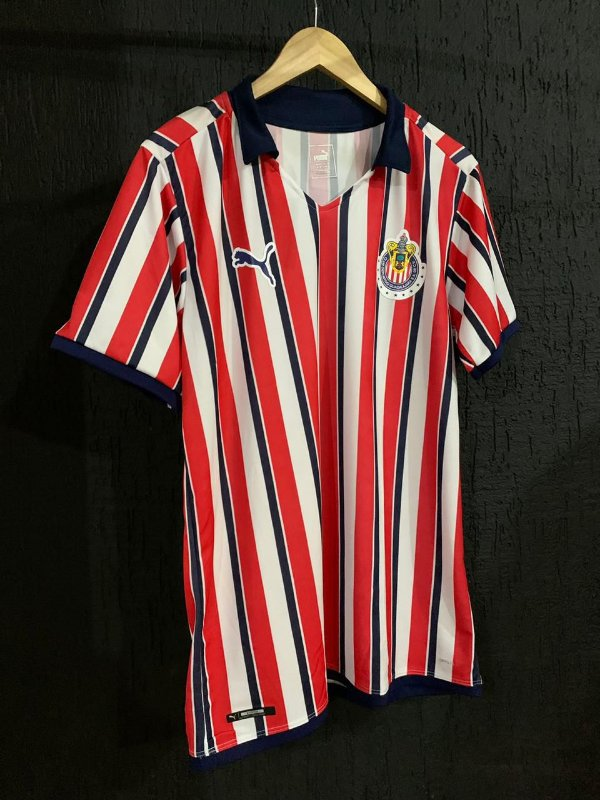 Camiseta Chivas Guadalajara Listrada 2021 Com Frete Grátis