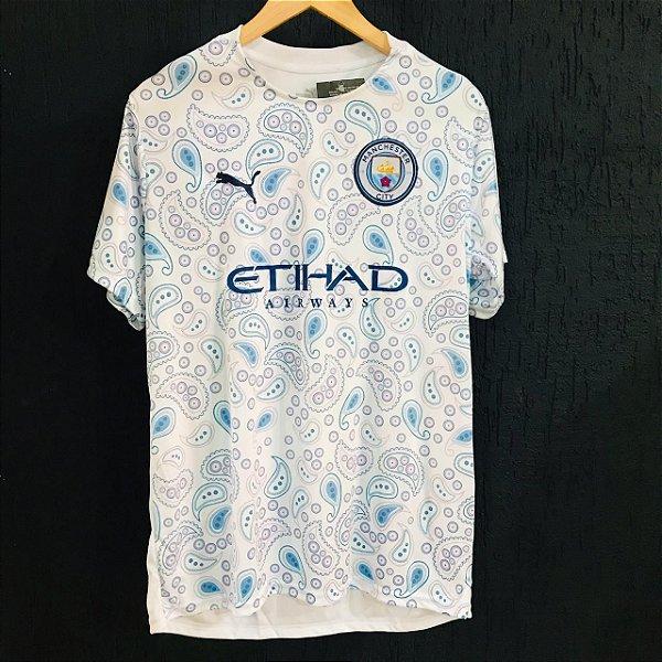 Camiseta Manchester City Branca 2021 Com Frete Grátis