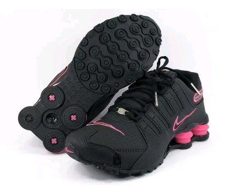 Ténis Nike Shox Nz Preto e Rosa Frete Grátis