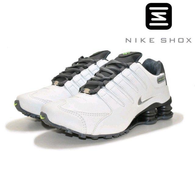 Ténis Nike Shox Nz Branco Com Detalhe Verde Com Frete Grátis
