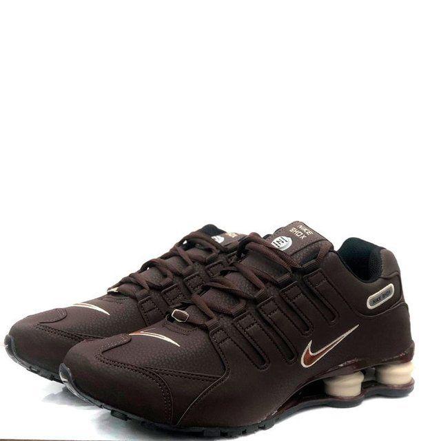 Ténis Nike Shox Nz Marrom Com Frete Grátis