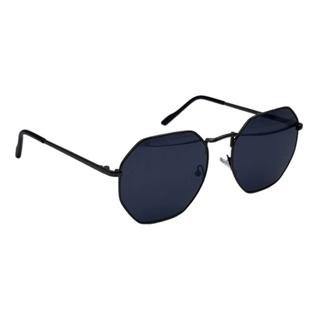Oculos De sol Hexagonal All Black