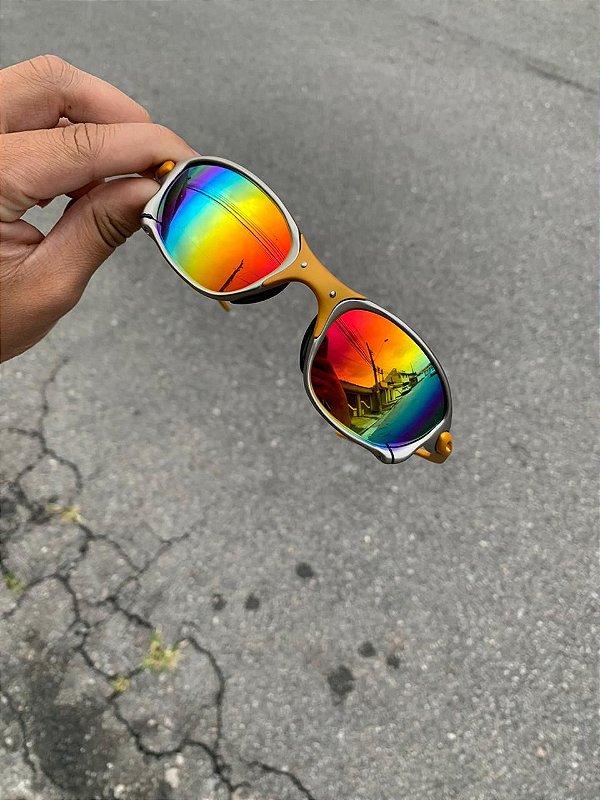 Óculos Oakley Juliet 24k Lente Arco Iris Frete Grátis