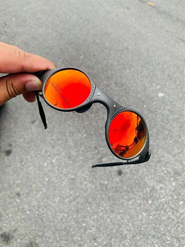 Óculos Oakley Mars Lente Vermelha Armação X-metal Frete Grátis