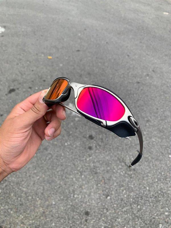 Óculos Oakley Juliet Armação Plasma Lente Tanzanet Com Suporte Cyclope Frete Grátis