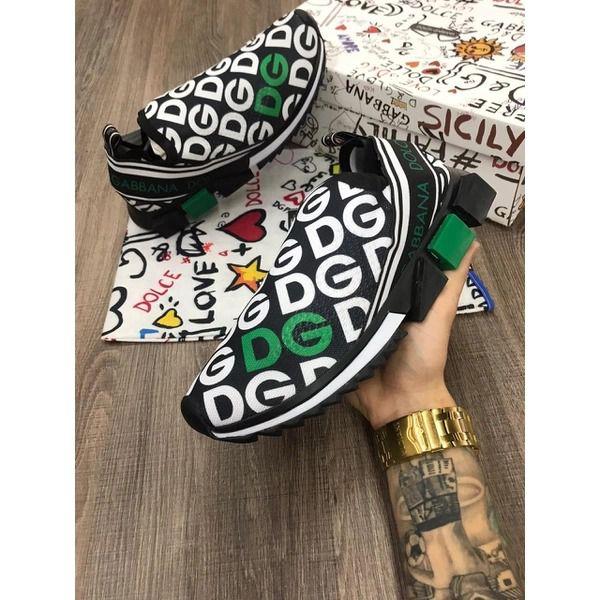 Tênis Masculino Dolce&Gabbana Preto e Verde Com Frete Gratis