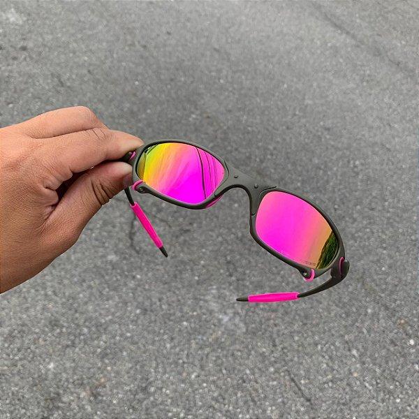Oculos Oakley Juliet X-metal Lente Rosa Brilho Reto Frete Grátis