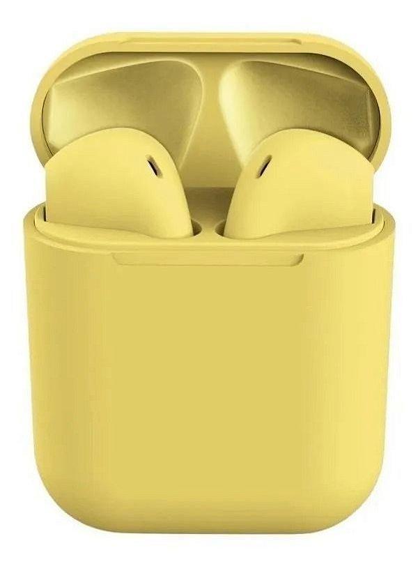 Fone Bluetooth InPods 12 5.0 Amarelo Oferta Frete Gratis