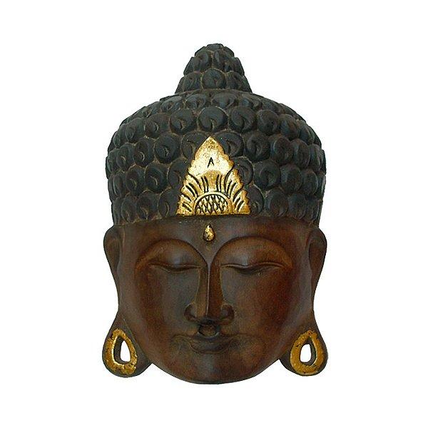 Máscara Buda Ouro 35cm