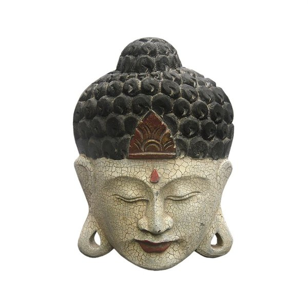 Máscara Buda Craquelado 25cm