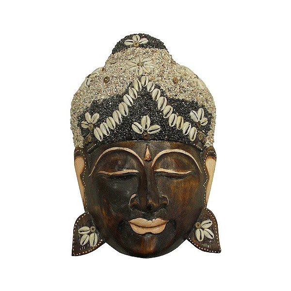 Máscara Buda Areia 25cm