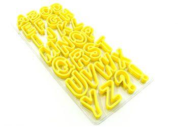 Cortador alfabeto plástico