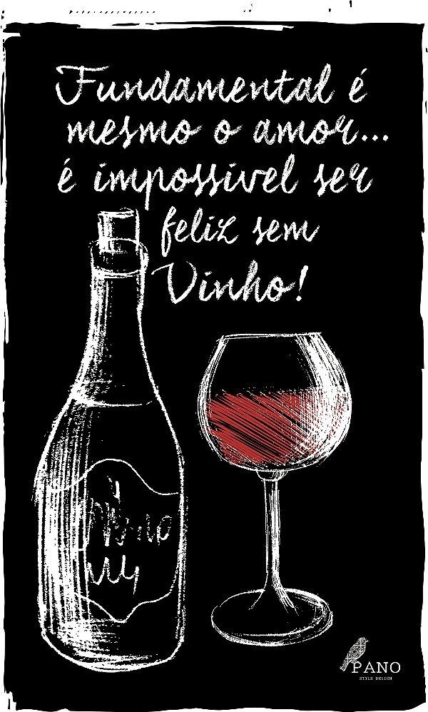 Pano de prato personalizado - Fundamental vinho