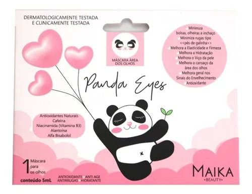 Máscara Para Área Dos Olhos Panda Eyes Maika Beauty 5ml