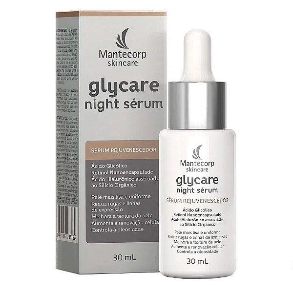 Glycare Night Sérum Facial Rejuvenescedor Noturno Mantecorp 30ml