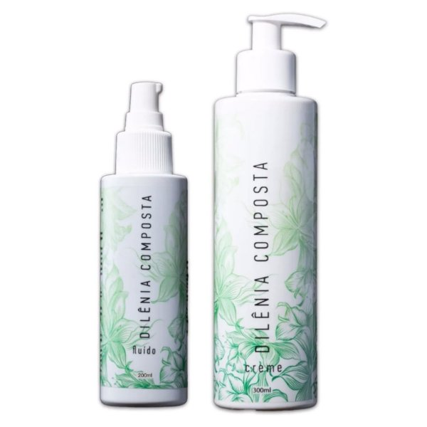 Kit Dilênia Creme Natural 300ml + Fluido Spray Natural 200ml