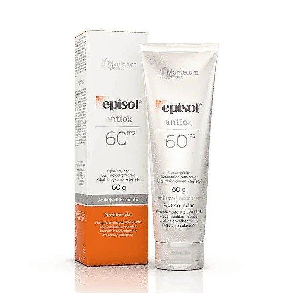 Protetor Solar Facial Episol Antiox 60g Antienvelhecimento FPS 60