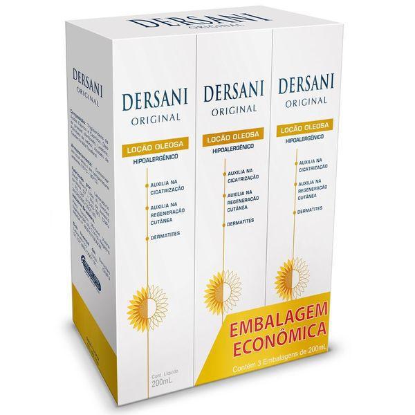 Kit Dersani Loção Oleosa Com 3 Frascos 200ml