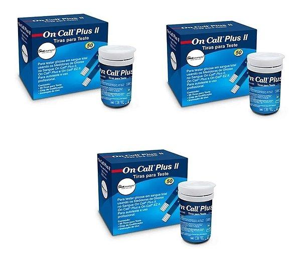 On Call Plus 2 Com 50 Tiras Reagentes 3 Unidades