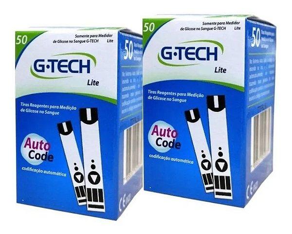 Tiras Reagentes G-Tech Lite com 50 tiras 2 Unidades