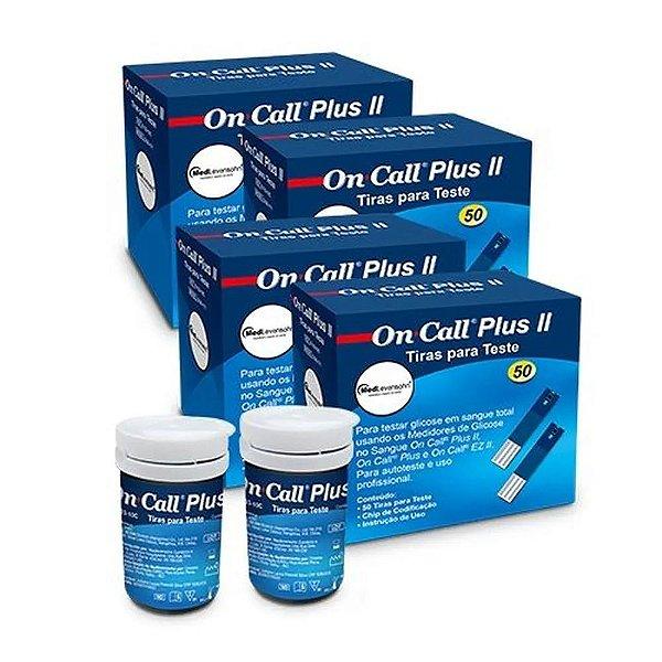 On Call Plus 2 Com 50 Tiras Reagentes 4 Unidades