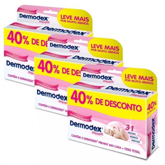 Dermodex Prevent Pomada 60g Com 40% Desconto Super Kit 3 Caixas