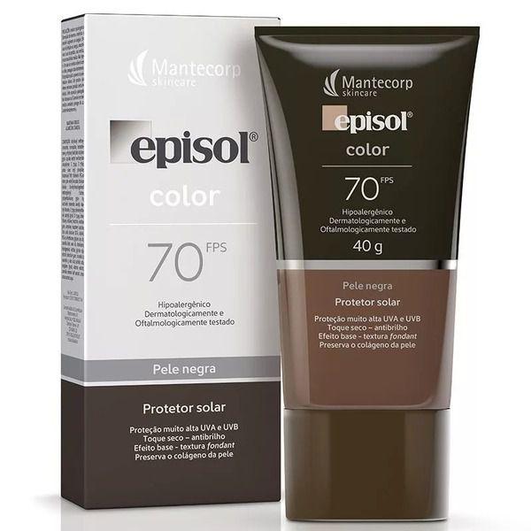 Protetor Solar Episol Color Pele Negra Fps 70 40g Mantecorp